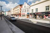 Zrekonstruovaná Dolní ulice v Havlíčkově Brodě.