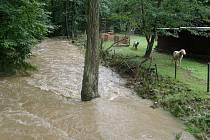 Velká voda řádila v Josefodole.