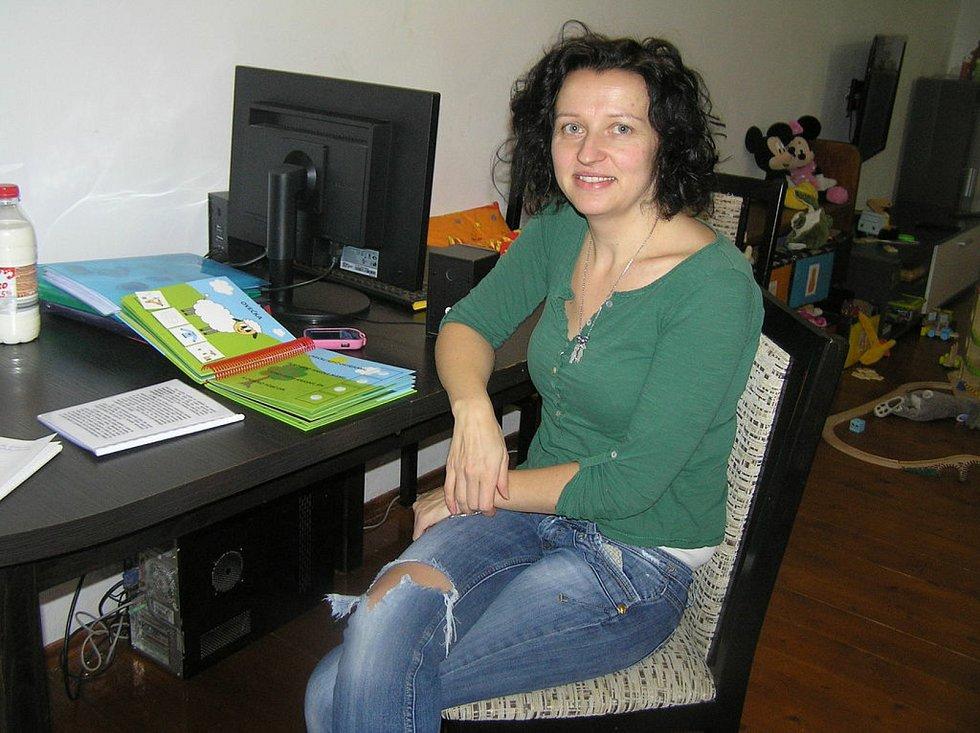 Dagmar Šimková a její veselé omalovánky.
