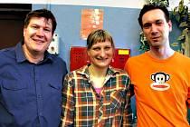 Účastníci kurzu, zleva: Petr Kysela, Marie Milichovská a Radek Kislinger.