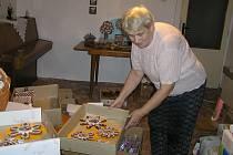 Vynikající perníčky Marie Henzlové z Dobré mohou pravidelně ochutnat návštěvníci podzimní výstavy ovoce, zeleniny a brambor v Přibyslavi.