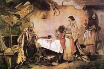 Ten obraz od Mikoláše Alše visel snad ve všech školních chodbách. Vítězný král Jiří z Poděbrad diktuje svoje mírové podmínky poraženému králi Matyáši Korvínovi.