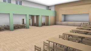 Vizualizace sobíňovského kulturního domu