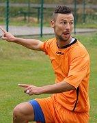 Hattrick vstřelil Jan Kaplan (na snímku) během prvního poločasu okresního derby Mírovka – Štoky (3:0).