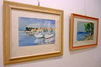 Obrazy Františka Neuvirta zachycují hlavně krásy Havlíčkobrodska.