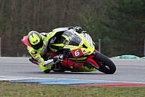 Motocyklový závodník Michal Prášek.