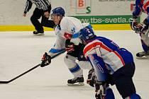 Brzký konec. Ten světelští hokejisté nečekali. Ve čtvrtfinále krajské ligy nestačili na Litomyšl, se kterou prohráli obě utkání. To druhé rozhodly až samostatné nájezdy.