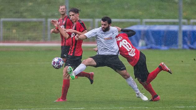 Fotbalisté Havlíčkova Brodu sehrají poslední červnový zápas ve Znojmě.