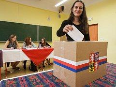 Studentské prezidentské volby v Obchodní akademii a Hotelové škole v Havlíčkově Brodě.