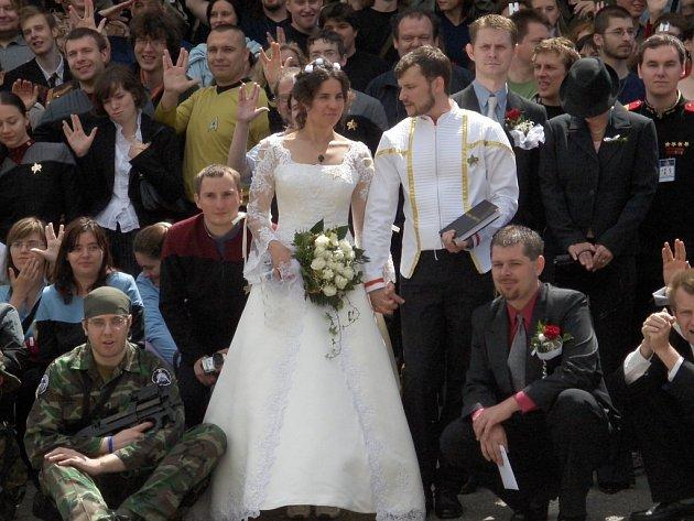Při posledním ročníku Festivalu fantazie si řekli snoubenci ano přímo v chotěbořském kině. Oba jezdili na festival řadu let, a toto byla příležitost oslavit sňatek se svými přáteli. Ilustrační foto