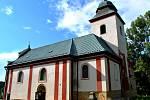 Kostel sv. Víta v Zahrádce.