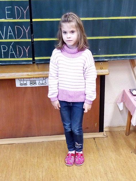 Na snímku jsou prvňáčci ze Základní a mateřské školy Uhelná Příbram střídní učitelkou a ředitelkou Danou Smutnou. Příště představíme prvňáčky ze ZŠ a MŠ Lučice.