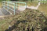 Tak to vypadá v Nové Vsi kde se v noci z neděle na pondělí přehnal vodní živel.