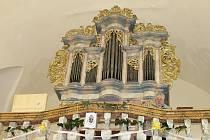 Varhany v kostele sv. Jana Křtitele v Krásné Hoře.