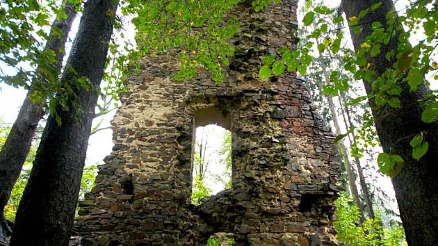 """""""V první třetině 14. století vzniklo nedaleko Přibyslavi proti toku řeky Sázavy také druhé hlavní sídlo Častolových potomků, když nový hrad byl nazván """"nápaditě"""" po rodovém erbu Ronovem. První zprávu o něm máme až v roce 1329"""", píše historik Jan Urban."""
