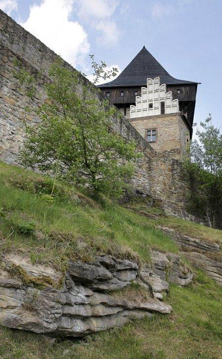 Hrad Lipnice nad Sázavou.