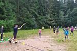 Rozloučení s letošním táborem ve Svratouchu - hra Brain ball