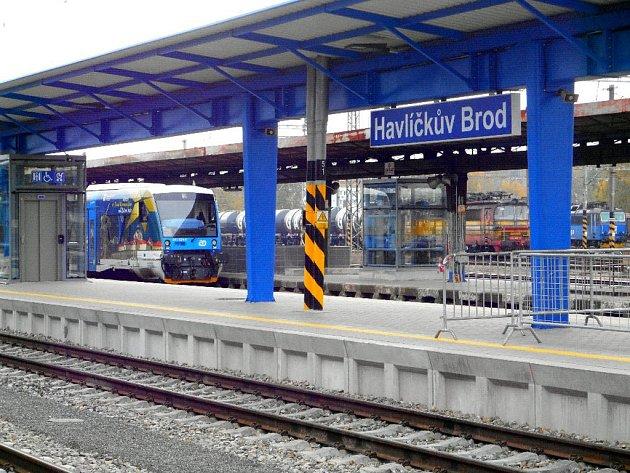 Vlakové nádraží vHavlíčkově Brodě.