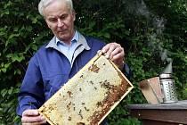 """Nejen med je oblíbeným produktem včel. Stále větší popularitu má i medovina, která se dá pít studená i horká. Včelař Pavel Průša však radí: """"Nepřevařit!"""""""