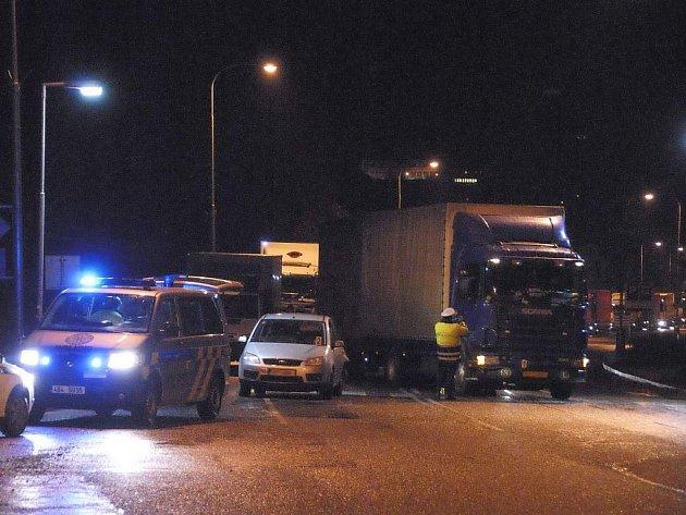 Ranní nehoda na Masarykově ulici v Havlíčkově Brodě.