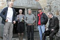 Natáčení pohádky Šťastný smolař na hradě v Ledči nad Sázavou.