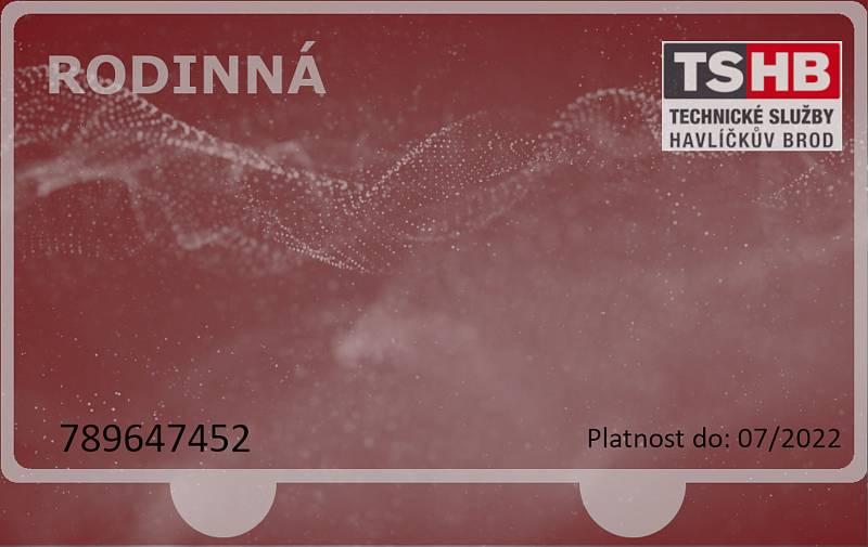 Nové čipové karty. Modrá občanská, červená rodinná. Se souhlasem města
