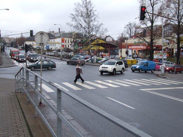 Křižovatka Masarykovy a Havlíčkovy ulice