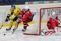 Samé porážky. Hokejisté Havlíčkova  Brodu (v červeném) jezdí domů z Ústí nad Labem pravidelně bez bodů. Nenastal už čas na změnu?