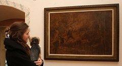 Návštěvníci Goltzovy tvrze si mohou až do Vánoc prohlédnout více než 70 obrazů Jaroslava Panušky.