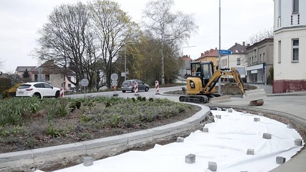 Rekonstrukce kruhového objezdu v Chotěboři