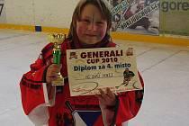 Přestože je hokej  především  mužskou záležitostí, mladá brankářka  Monika Sobotková  má  úspěchy.