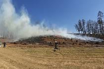 Požár u Vadína na Havlíčkobrodsku.