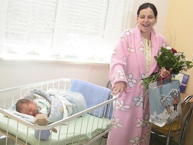 Prvním miminkem nového roku narozeným v havlíčkobrodské porodnici je Jorik, syn  Kateřiny Walterové z Prahy.