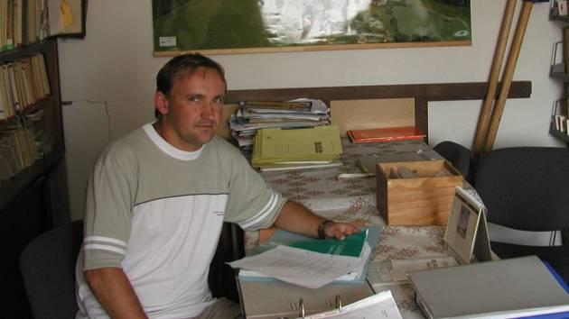 Starosta obce Pavel Lhoťan.