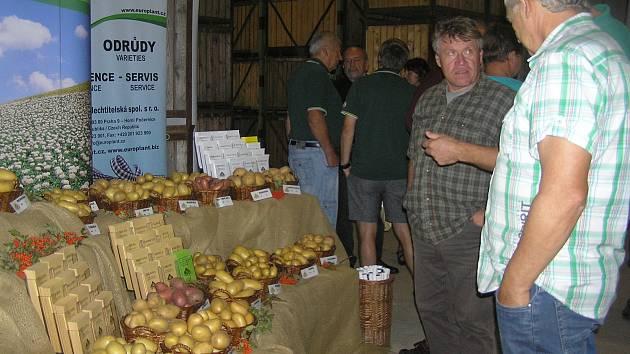 KOLIK A ZA KOLIK. O budoucnosti bramborářstí diskutovali zemědělci na polním dnu v Havlíčkově Borové. Foto:Deník/Štěpánka Saadouni