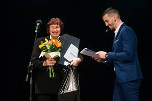 Slavnostní vyhlášení Sportovce Světelska roku 2019 ze dne 20. února 2020 ve Světlé nad Sázavou. Na snímku: Ludmila Pláteníková.