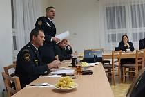 Valná hromada ledečského sboru dobrovolných hasičů.