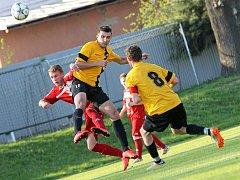 Fotbalisté Chotěboře (na snímku) remizovali ve středeční přípravě v okresním derby se Světlou divokým výsledkem 3:3.