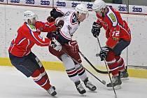 Ztratili vedení. Hokejisté Havlíčkova Brodu ještě tři a půl minuty před koncem třetí třetiny vedli v Třebíči o tři branky, nakonec však vybojovali jenom dva body za vítězství v prodloužení.