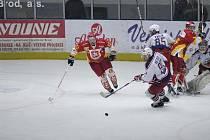 Z hokejového utkání Havl. Brod - Hradec Králové.
