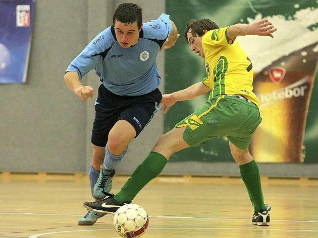 Druhý poločas. Ten rozhodl o vítězství  chotěbořské Bocy nad futsalisty Turnova, když otočili vývoj zápasu.