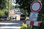 Oprava silnice mezi Pohledem a Simtany.