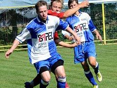Fotbalisté Sapeli Polná (u míče Matěj Brnický) zadělali v závěru druhým gólem na drama.