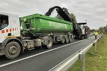 Oprava silnice I/38 za Havlíčkovým Brodem.