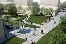 Po dokončení všech stavebních prací a parkových úprav by mělo Smetanovo náměstí v Havlíčkově Brodě získat právě tuto podobu.