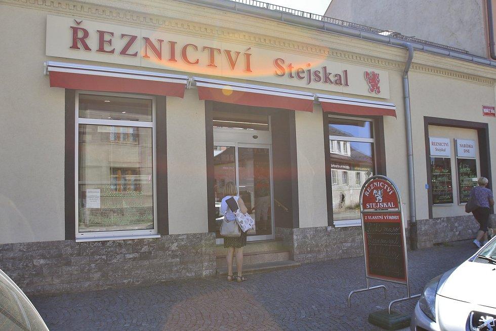 Řeznictví Stejskal v Chotěboři.