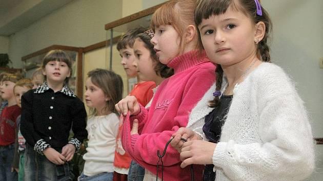 Prvňáci ze Základní školy Wolkerova v Havlíčkově Brodě.