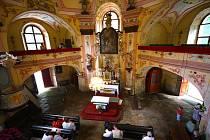 Interiér sv. Anny v Pohledu