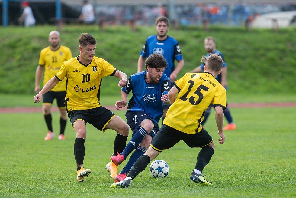 Fotbalové utkání krajského přeboru mezi FC Chotěboř a SK Přibyslav.