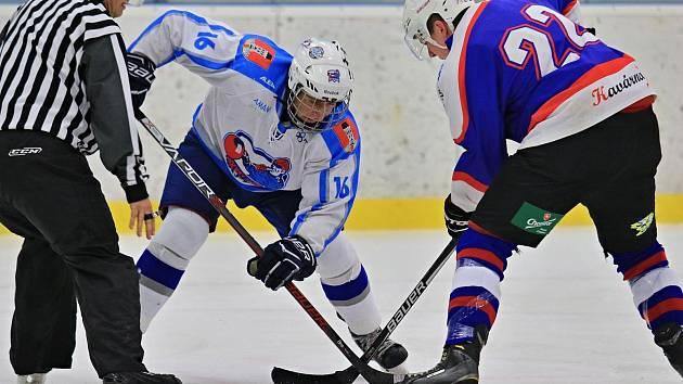 První derby v krajské hokejové lize muselo rozhodnout až prodloužení, po něm byla šťastnější Chotěboř.